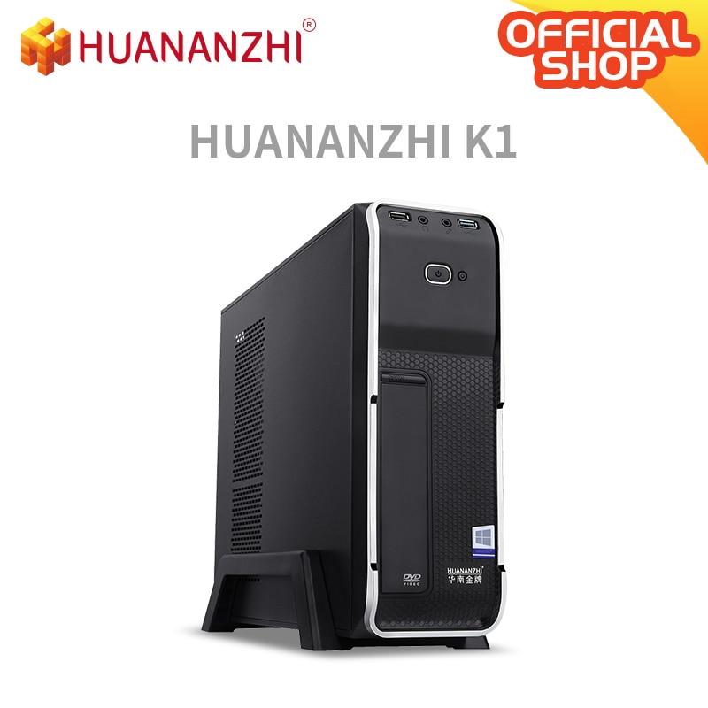 HUANANZHI K1 ofis i5 MINI masaüstü bilgisayar cpu 2400 DDR3 1*8G SSD 256G wifi DVD ile yüksek maliyet performansı PC
