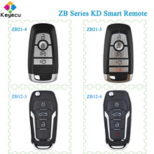 KEYECU KEYDIY עבור פורד סגנון ZB סדרת ZB21 4 ZB21 5 ZB12 3 ZB12 4 KD חכם מרחוק רכב מפתח עבור KD X2 מפתח מתכנת