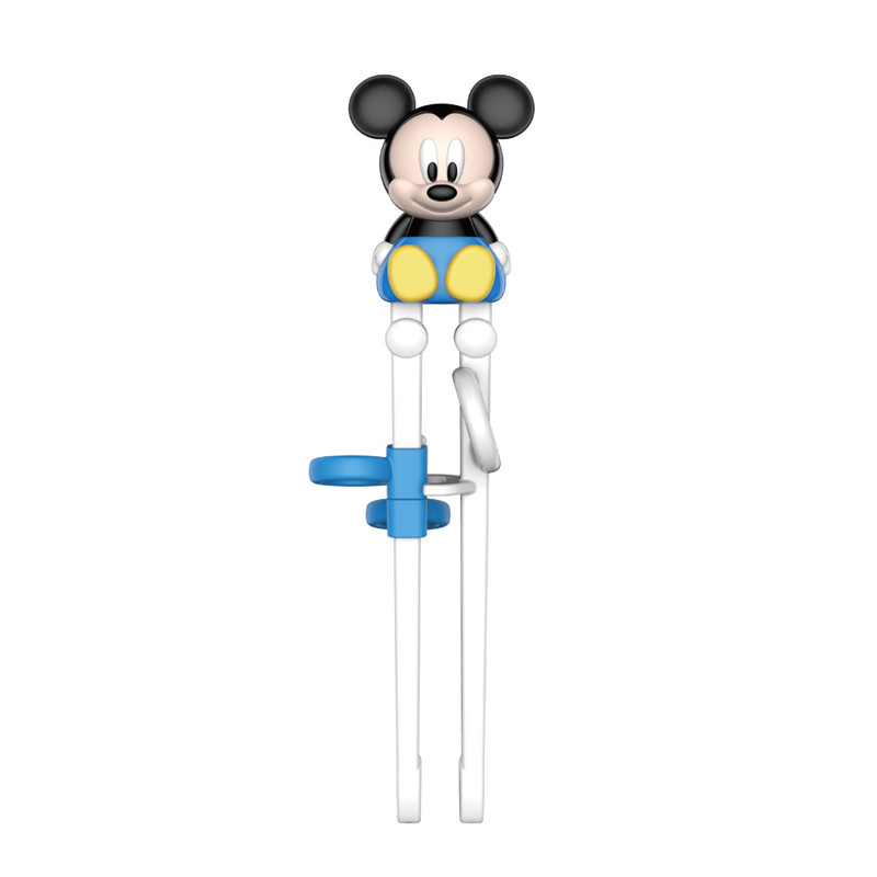 Disney Kids Minnie Mickey Learning Training Chopsticks ABS Cartoon Children Helper Chopsticks Tableware Stainless Steel Spoon