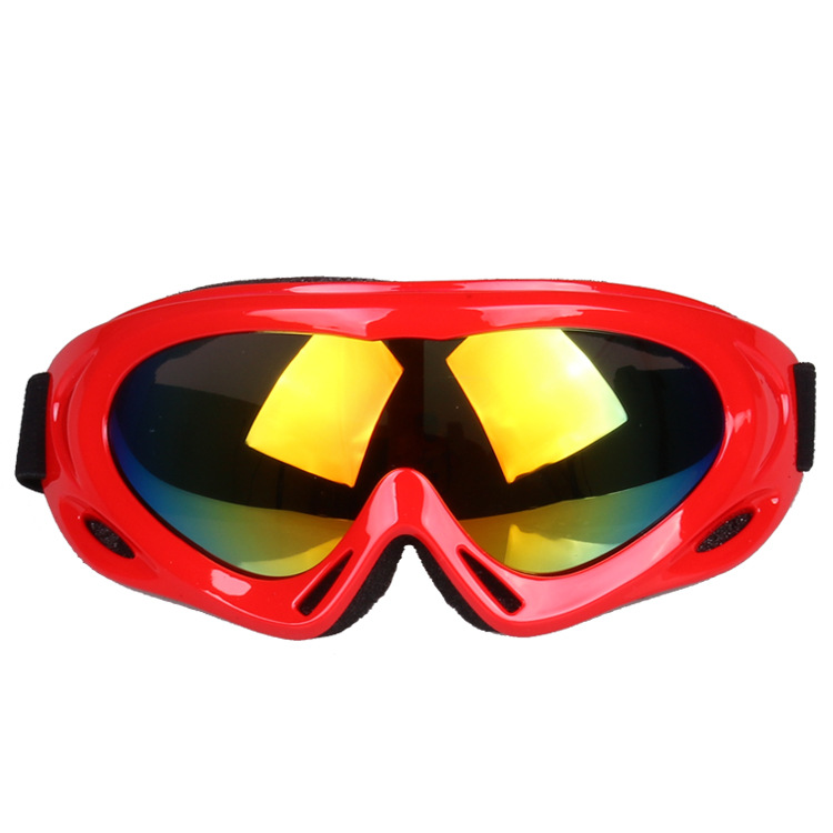 Motorcycle Bicycle Glass X500 Ski Goggles Single Layer Windproof Sand Snowfield Eye-protection Goggles Adult For Kids