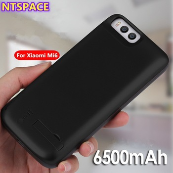 6500mAh Extended Phone Battery Power Case For Xiaomi Mi 6 Portable Power Bank Cover For Xiaomi Mi 5S Battery Charger Case