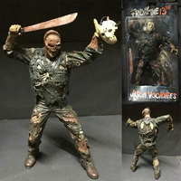 Friday The 13th Action Figure Jason Voorhees Figure Horror Green Clothes  PVC Action Figure Toy Doll