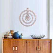 Drewniany okrągły obrotowy kalendarz DIY wieczny kalendarz ozdoba do powieszenia na ścianie rzemiosło urodziny prezenty na rocznicę Home Decor tanie tanio CN (pochodzenie) Europa ROUND calendar Drewno drewniane