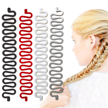 6 Styles Lady French Hair Braiding Tool Weave Braider Roller Hair Twist with Hook Hair Edge Curler Styling Tool DIY Accessories 1