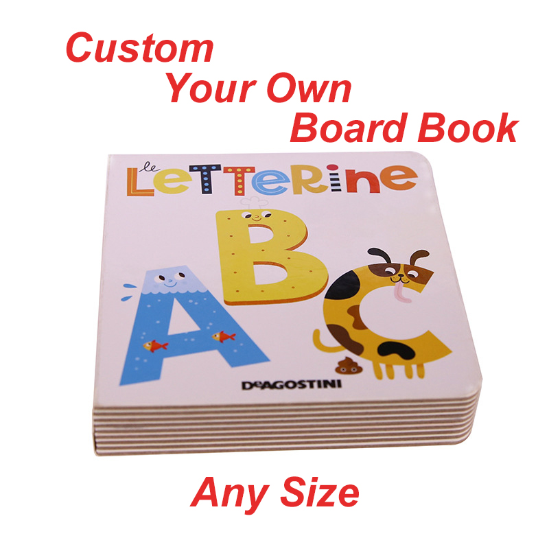 Custom Board Books for Babies English Сoloring Learning Drawing and Education Kids Children Short Story Round Corner Printing