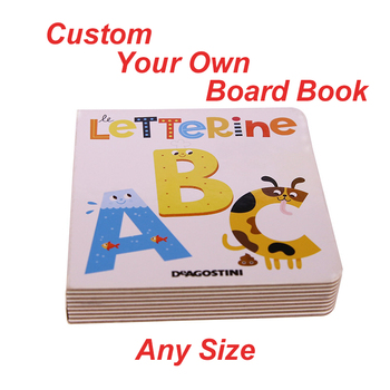 Custom Board Books for Babies English Сoloring Learning Drawing and Education Kids Children Short Story Round Corner Printing - sale item Books