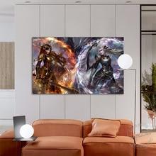 цена League of Legends Video Game Poster LOL Diana VS Leona HD Print Canvas Painting Wall Picture for Playroom and Living Room Decor онлайн в 2017 году
