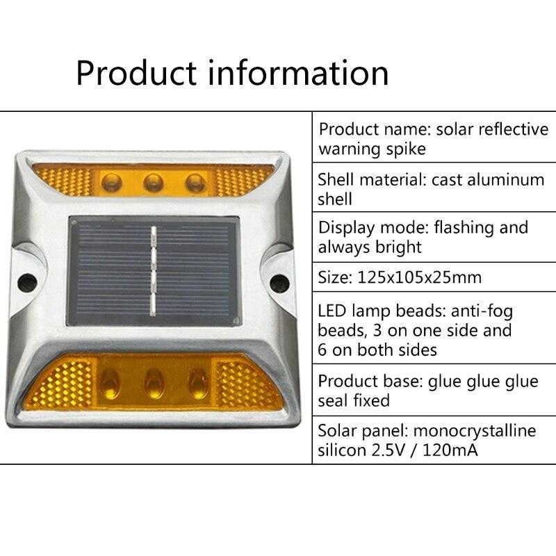 Garden Pathway Solar Power Ground Marker Lights Waterproof Outdoor Driveway Lamp