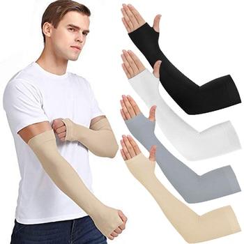 Mangas unissex para braço resfriamento, cotovelo, capa, proteção uv, para o sol, feminina, de nylon 1