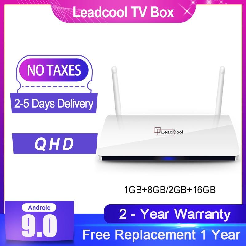 Leadcool Android 9 0 QHD Smart TV Box 4K H 265 Media Player Quad Core Amlogic S905W Support 1080P TV Box Leadcool Set top Box