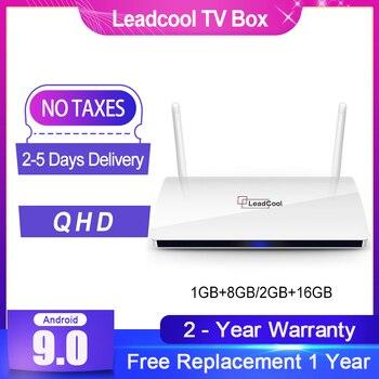 Leadcool Android 9.0 QHD Smart TV Box 4K H.265 Media Player Quad Core Amlogic S905W Support 1080P TV Box Leadcool Set top Box