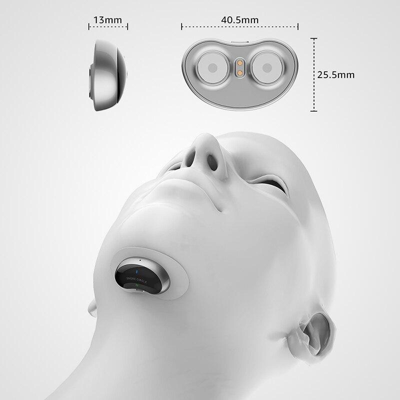 Smart bouchon Anti ronflement Anti Ronflement Aide Au Sommeil avec APP Et Moniteur De Sommeil Dispositif D'aide Au sommeil CPAP Remplacement - 5