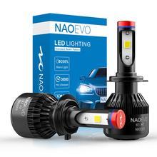 NAO H7 H4 LED Headlight H11 HB4 Fog Light H8 HB3 H9 Auto Blub 9006 9005 12V White 60W 6400Lm Turbo Fan Lamp Car Accessories