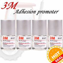 Special price 1pcs 3M 94 Promoter Automotive Adhesion Car Super Trim Adhesive Glue Double Faced Adhesive Tape Adhesion Promoter 5 rolls 9mm 50 meters 3m double face high adhesion adhesive black tape for home appliance control panel car parts screen fix