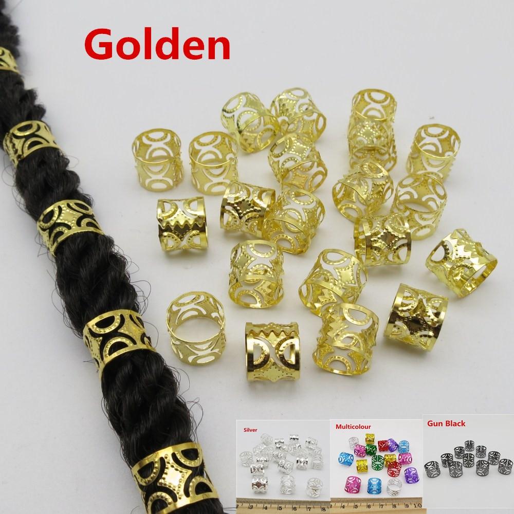 Big Size 50Pcs 100pcs Hollow adjustable hair dread Braid dreadlock Beads cuffs clips Accessories approx 10mm hole|dreadlock beads|dreadlock beads adjustabledread beads - AliExpress