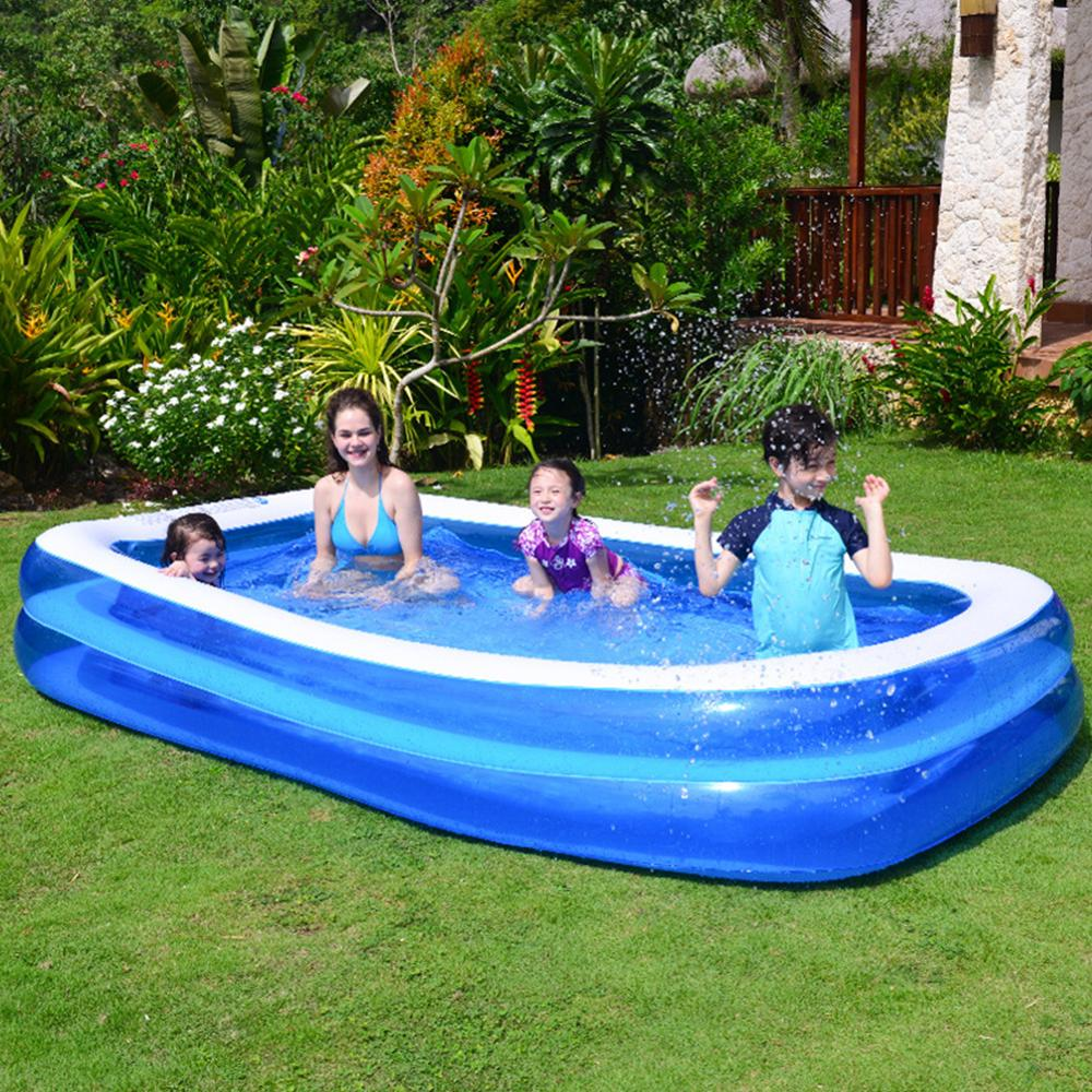 Closeout DealsInflatable Swimming Pool Home Outdoor Portable Family Children Playing Water Pool Baby Swimming Pool In Stock Fast Shipping