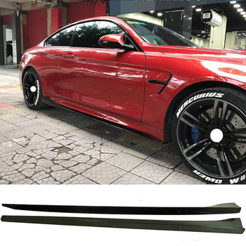 3-D Style Carbon fiber 2Door Side skirts 2Pcs Fit For BMW  F12 F13 M-Sport M6 Coupe