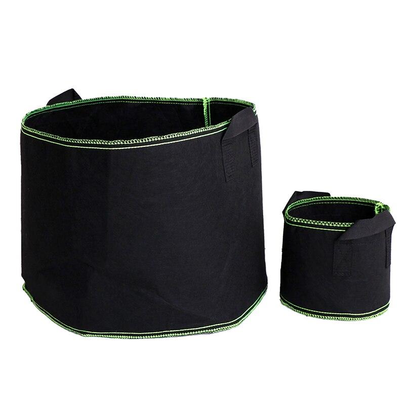 Войлок ткань посадки сумка садоводство инструменты% 2FРучки круглая аэрация горшки контейнер для детская сад% 26Посадка выращивание мешки 1-10 галлон