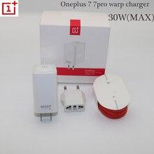 Original OnePlus 7 pro Warp Ladegerät 30 Power Warp Schnelle ladegerät 30 W EU Ladegerät Adapter 6A rot Typ c runde linie Schnell Brief 30 W