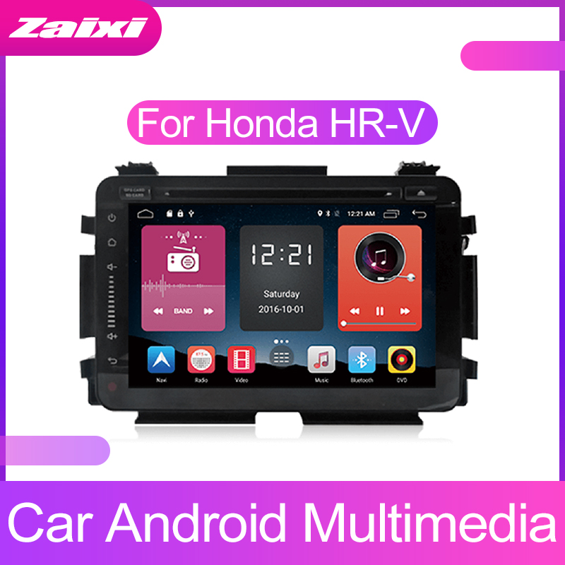 ZaiXi Android Car Multimedia player 2 Din <font><b>GPS</b></font> Navigation Autoradio For <font><b>Honda</b></font> HR-V <font><b>HRV</b></font> 2014~2019 <font><b>GPS</b></font> HD screen Radio FM Maps BT image