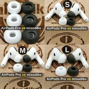 Image 3 - Misodiko Bequem Weichen Silikon Earbuds Ohr Tipps für Apple AirPods Air Schoten Pro, ersatz Kopfhörer Eartips (Transparent Schwarz)