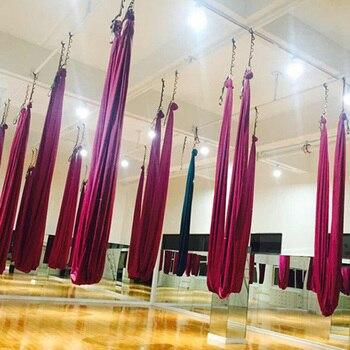 5*2.8M yoga hammock Solid color inversion yoga swing anti gravity yoga swing yoga swing home gym exercise equipme gym en casa