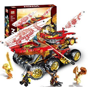 New 858pcs Ninja Land Bounty Truck Model Building Blocks Compatible Lepining 70677 Ninjagoes Kids Toy Bricks Gifts