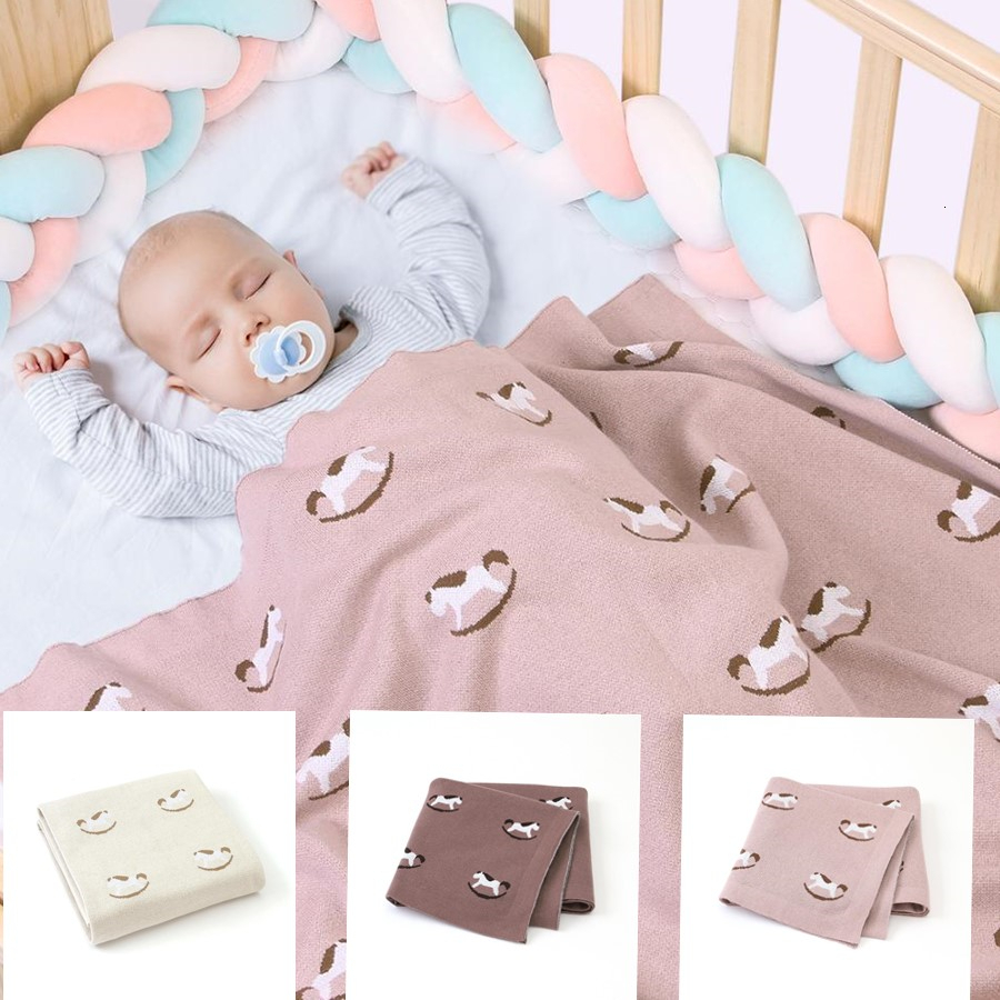 Bedding Baby Quit Blankets Knitted Newborn Swaddle Wrap Toddler Boy Girl Photograph Props Multifunction Children Covers 100*80