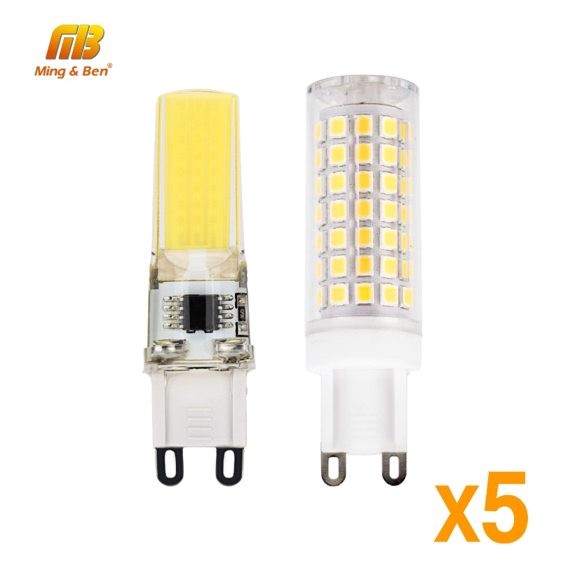 5pcs <font><b>G9</b></font> <font><b>LED</b></font> Lamp AC <font><b>220V</b></font> 2W 3W 4W 8W SMD2835 Corn Bulb <font><b>LED</b></font> COB Bulb 360 degrees Replace Halogen Lamp Warm Cold White Lampada image