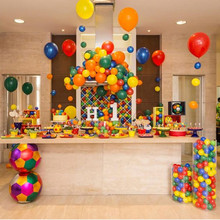 Lego Party Decorations Building Blocks Disposable Tableware Set Plates Cups Kids Birthday Decor Supplies