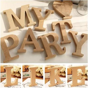 Freestanding A-Z Wood DIY Wooden Letters Alphabet Hanging Wedding Birthday Home Party Decor Design Decorations Arts Crafts 1