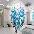 Индийский Ловец снов ручной работы, подвесное украшение с бусинами из ротанга, украшение для автомобиля, Ловец снов