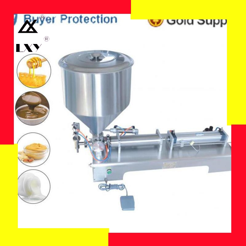 10-500ml Filler Shampoo Lotion Cream Yoghourt Honey Juice Sauce Jam Gel Filler Paste Filling Machine Pneumatic Piston Filler
