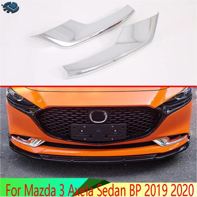 Per Mazda 3 Axela Berlina BP 2019 2020 Accessori per Auto ABS Cromato Anteriore Nebbia Copertura Della Lampada Della Luce Trim Stampaggio Lunetta contorno Sticker
