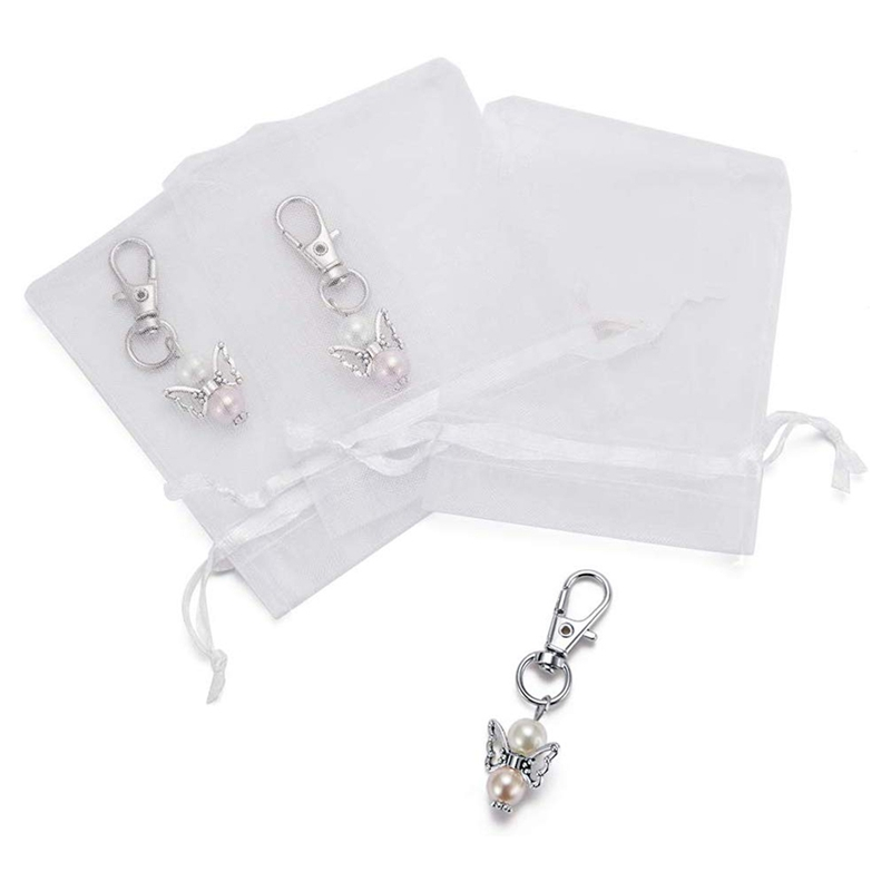 30 Pieces Organza Bags Wedding Favors Baptism Pendants Christmas Communion Confirmation Gifts For Guests
