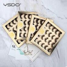 YSDO – ensemble de faux cils 3D naturels, longs, 5/10 paires, Kit de maquillage, vente en gros en vrac