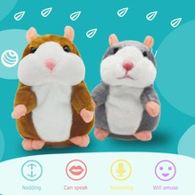 Plush-Toy Talking Hamster Falante-Mouse Record Stuffed-Doll-Support Pet 15cm Educational