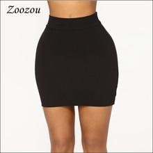 Mini-Skirt Women Pencil Hip-Short Bodycon Elegant High-Waist Office Lady Summer for Bag