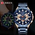 CURREN Männer Uhr 2019 Top Marke Luxus relogio masculino Sport Chronograph Männer Armbanduhr Militär Für Meski Männlichen Uhr Quarz