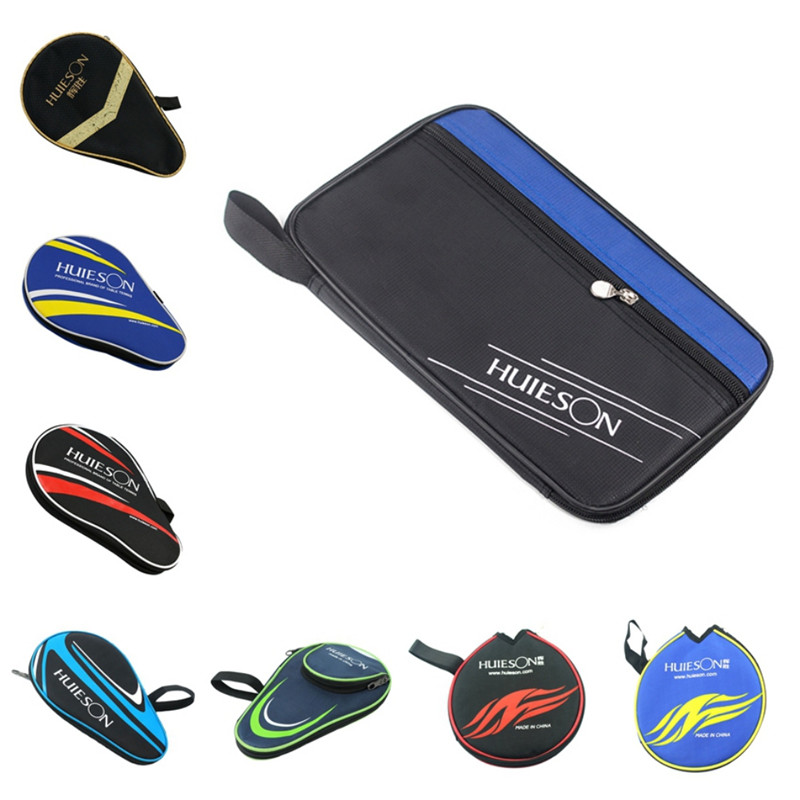Table Tennis Rackets Bag For Training Professional Ping Pong Case Steel Ring Ping Pong Dust-proof Zipper Bat Storage Bag