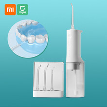 Xiaomi mijia irrigador oral portátil água dentes flosser jato de água limpeza dente palito bocal dentadura dentes mais limpos