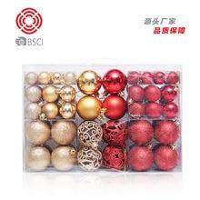 Weihnachten Dekoration 100 stücke Weihnachten Ball Geschenk Tasche Kunststoff Ball Weihnachten Baum Hängen