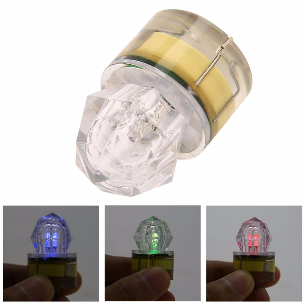 ICOCO LED Deep Drop Underwater Diamond Fishing Flashing Light Bait Lure Squid Strobe 5 Colors 2020 Sale