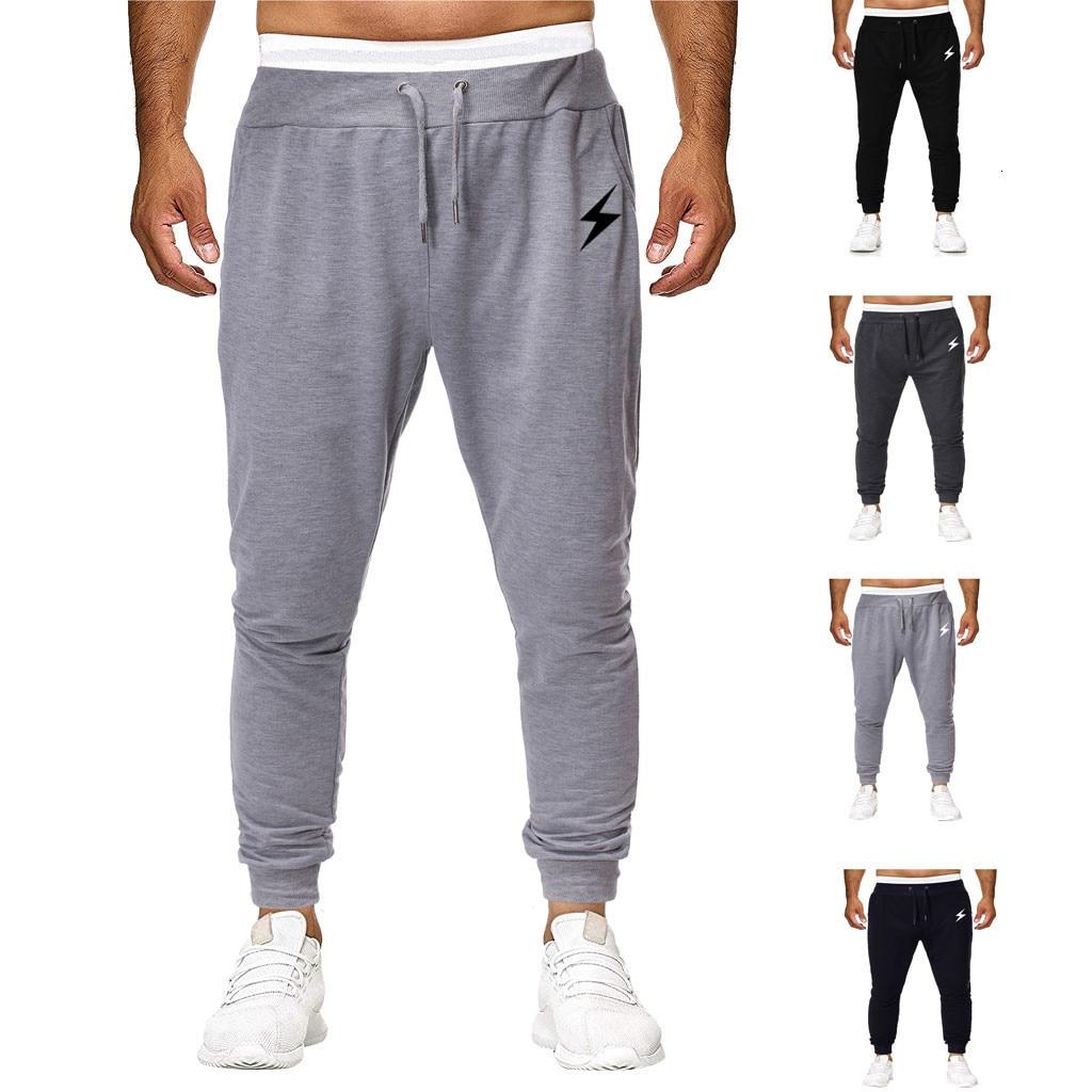 Men Joggers Sweatpants Men's Jogger Trouser Men Fashion  Pure Color Overalls Casual Pocket Sport Work Casual Trouser Pants S-2XL