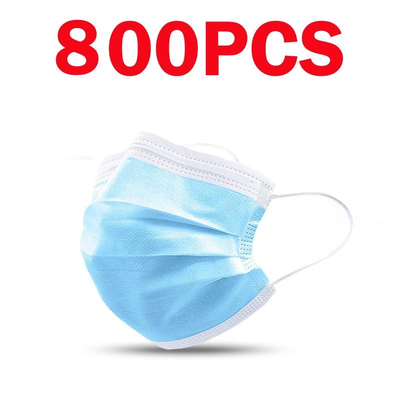800/600/400/200/100pcs Disposable Mask Non Woven Masks Masque 3Ply Ear Loop Elastic Face Mask Fashion Breathable Mask Mascarilla|Women