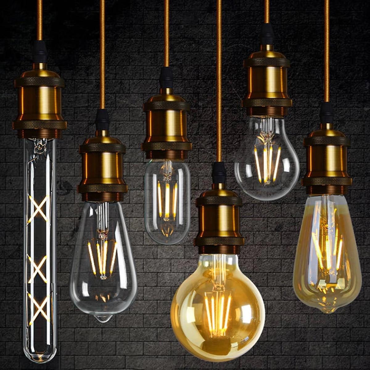 2021 тотальная распродажа, Декор Ретро Edison светодиодная лампа накаливания лампочка в виде шара пузыря 4W 6W 8W C35 G45 A60 G80 G95 для Спальня украшения