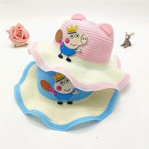 Peppa Pig шляпа с рисунком аниме, детская шапка, вечерние товары на день рождения, Воздухопроницаемый блок, солнце, прохладное лето, подарки для ...