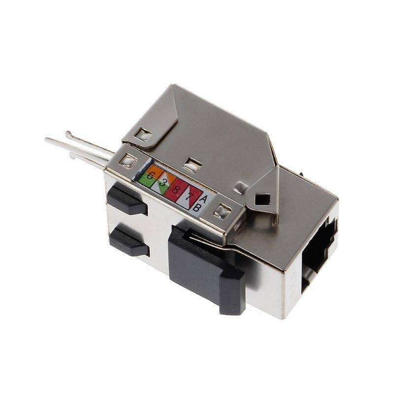 1 unidad, RJ45 Keystone Cat6 blindado, módulo de red UTP de aleación de cobre FTP, conector de red Keystone, conector adaptador de información Convertidor de medios ópticos de fibra de interruptor Gigabit Ethernet PCBA 8 RJ45 UTP y 2 puertos de fibra SC 10/100/ 1000 M placa PCB