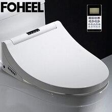 FOHEEL inteligentna deska toaletowa Bidet elektryczny pokrowiec Led Light Wc inteligentny Bidet ogrzewanie siedzi inteligentny sedes