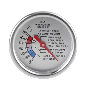 Stainless Food Analog Meat Thermometer Kitchen Cooking Oven BBQ Beef Pork Turkey Steak Temperature Probe C/F 1